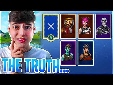How I Got My RARE SKINS (the truth...) Fortnite Battle Royale!