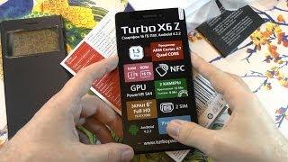 Розпакування 6'' Turbo X6 Z 2 батареями і кейсом з віконцем