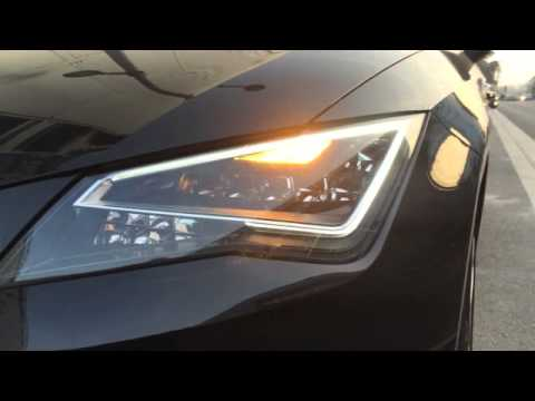 Seat leon 5f led drl 30 with blinker youtube for Seat leon led verlichting