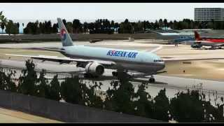 Korean Air 777 Cargo landing in Gustavo Rojas Pinilla