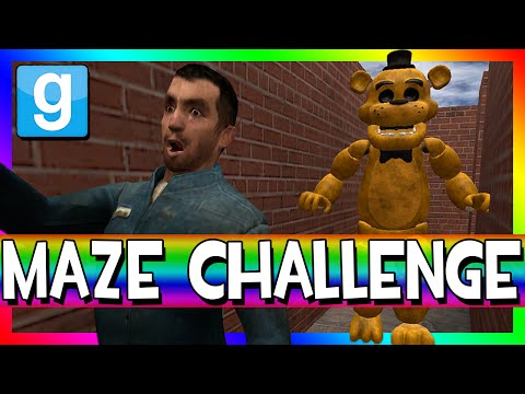 FIVE NIGHTS AT FREDDY'S MAZE | Gmod Murder Maze Challenge (WARNING: JUMPSCARES!!!)