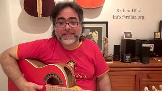 Teaching is much more difficult than playing flamenco guitar/ lessons Skype/ Ruben Diaz