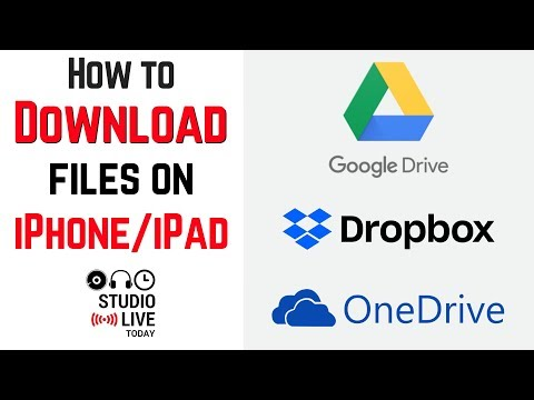 How To Download Files On Iphone/ipad Google Drive, Dropbox, Onedrive