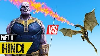 Thanos VS Dragons VS Zombies in GTA 5 - #Zombies 11