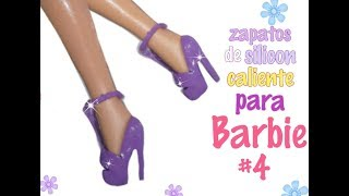 Zapatos de silicon caliente para barbie#4