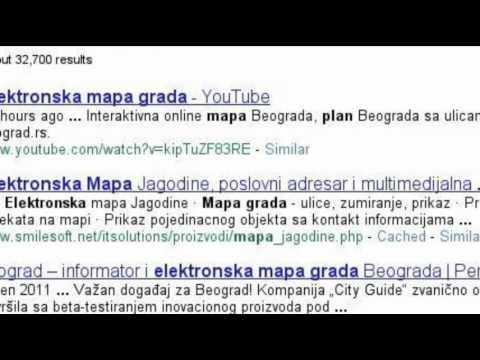 elektronska mapa beograda Interaktivna online mapa Beograda   YouTube elektronska mapa beograda