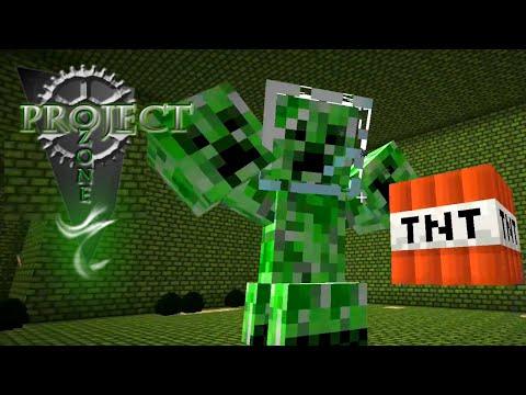 Minecraft Mods Project Ozone - CREEPER BOSS [E38] (Modded HQM Sky Block)