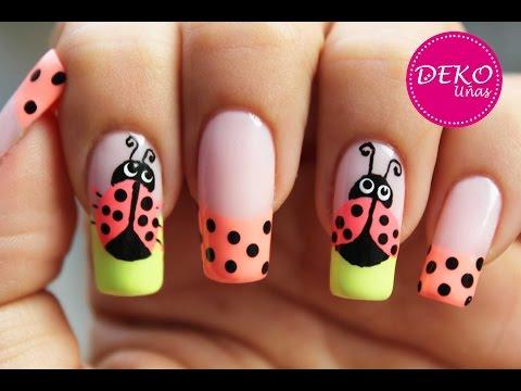 nail art ladybug dise de u