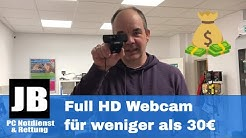 Full HD Webcam mit 1080p für unter 30€ im Test VS iPhone X die LOETAD Webcam