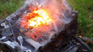 2KG THERMITE VS ENGINE BLOCK