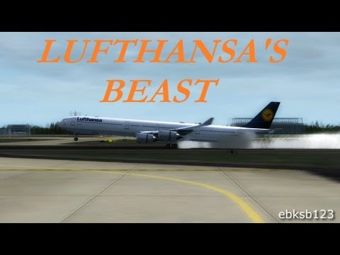FSX HD 1080p - A340-600 Landing @Frankfurt!! AS REAL AS IT GETS