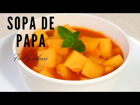 🥔Sopa de papa que te encantará ı La receta más fácil, rápida y deliciosa!!