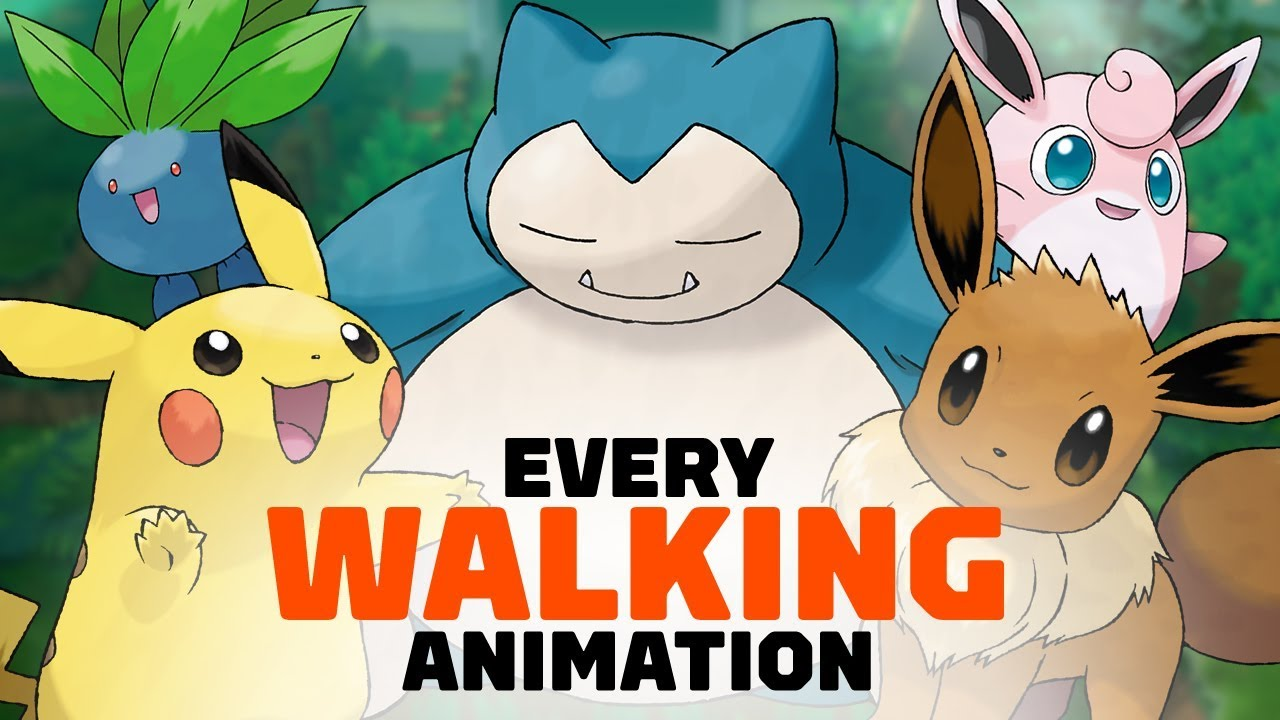 All 171 Pokemon Walking Animations In Lets Go Pikachu And Eevee