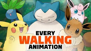 All 171 Pokemon Walking Animations in Let