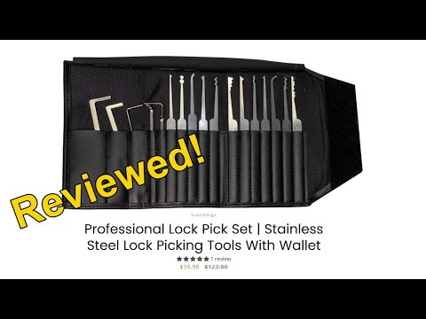 [306] Review | SubtleDigs Professional Lock Pick Set With Trifold Wallet