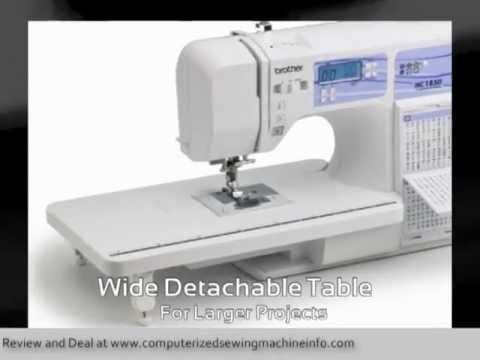 Brother HC40 Sewing Machine Review What Does The Brother HC40 Magnificent Brother Hc1850 Sewing And Quilting And Embroidery Machine