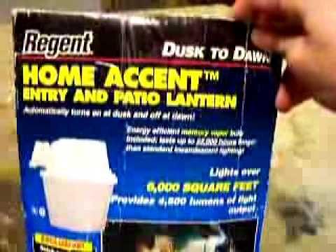 Regent Dusk To Dawn Entry Patio 100 Watt Mercury Vapor Light Indore Outdoor