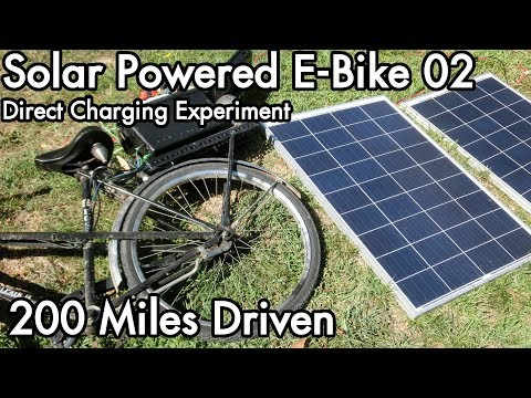 Solar Powered E-Bike 02: Direct Charging Experiment, 200 Miles Driven