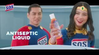 BARU! SOS Antiseptic Liquid & Wipes (30's)