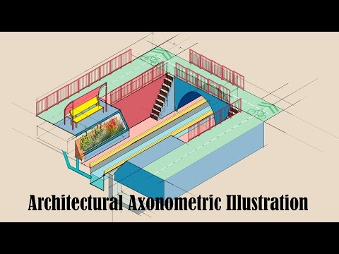 Making an architectural axonometric diagram using adobe illustrator