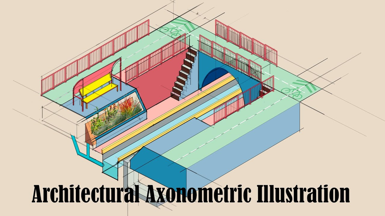 Making An Architectural Axonometric Diagram Using Adobe Illustrator