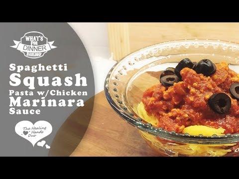 Spaghetti Squash Pasta With Chicken Marinara Sauce | Gluten Free, SCD & Paleo Friendly Recipe