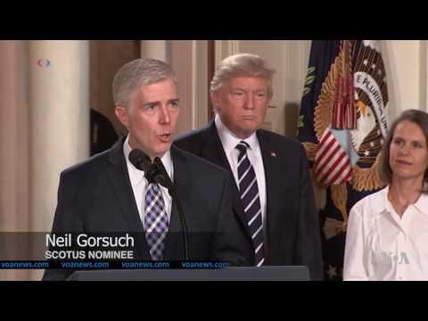 Trump Names Conservative Judge Neil Gorsuch to US Supreme Court