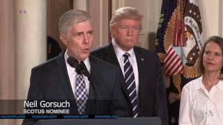 Trump Names Conservative Judge Neil Gorsuch to US Supreme Court