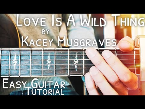 Love Is A Wild Thing Kacey Musgraves Guitar Tutorial // Love Is A Wild Thing Guitar // Lesson #456