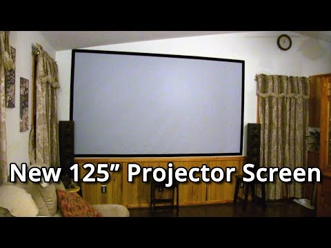 New 125 inch Projector Screen (2017 Theater Tour Episode 6)