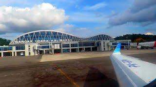 Pesawat Garuda Indonesia CRJ1000er Take Off Dari Berau Kaltim (Video Pesawat Terbang Indonesia)