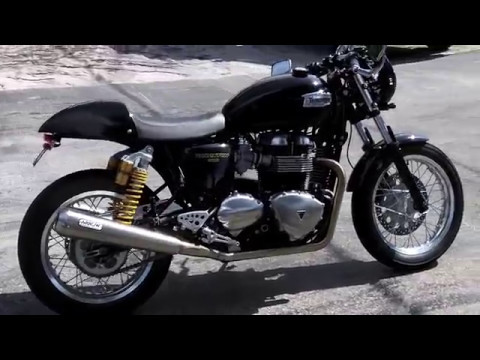 pre owned 2015 triumph thruxton 900 black gold at euro cycles of tampa bay youtube. Black Bedroom Furniture Sets. Home Design Ideas