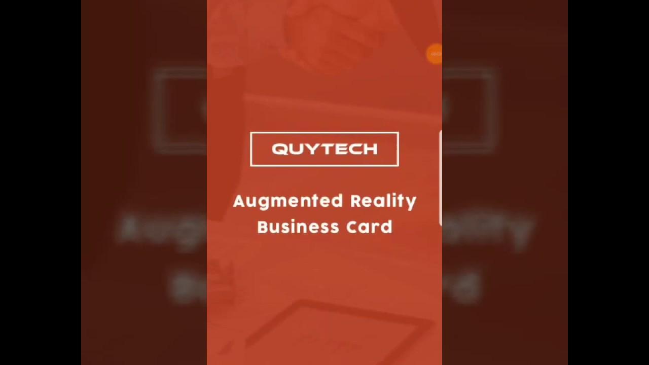 augmented realityar business card  visiting card demo