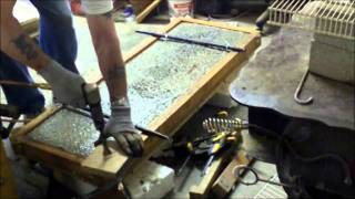 Pouring a Custom Concrete Garden Bench Top
