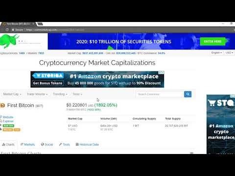 First Bitcoin(BIT) over 1000% in 24 hrs! PUMP COIN OF THE DAY!