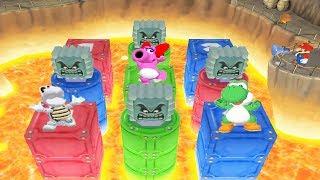 Mario Party 7 All Funny Mini Games - Mario Vs Dry Bones Vs Yoshi Vs Birdo (Master CPU)