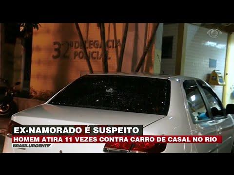 RJ: Homem atira 11 vezes contra carro de casal