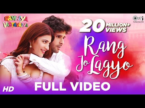 Rang Jo Lagyo - Lyrical Video | Ramaiya Vastavaiya | Girish Kumar, Shruti Haasan | Atif & Shreya