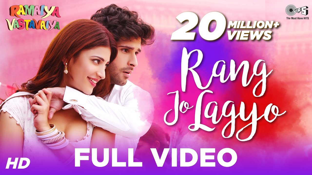 Download Rang Jo Lagyo (Special Edition) - Ramaiya Vastavaiya | Girish Kumar, Shruti Haasan | Atif & Shreya