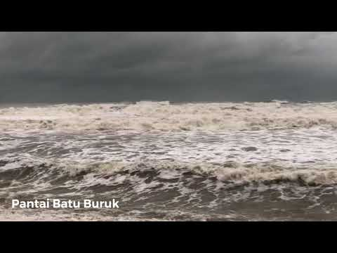 Tropical storm Pabuk at Pantai Batu Buruk and Penarik,Terengganu, Malaysia.