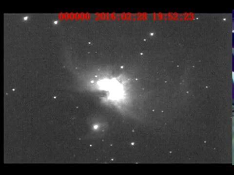Video e Imagenes Personales de Messier 42 , 10 de Febrero 2016 TL. 2