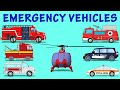 Emergency Vehicles  | kids Videos | Learn Vehicles name