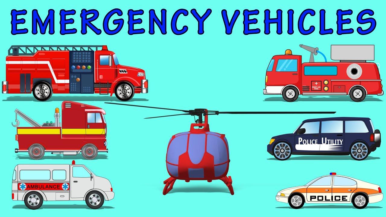 emergency vehicles kids videos learn vehicles name youtube. Black Bedroom Furniture Sets. Home Design Ideas