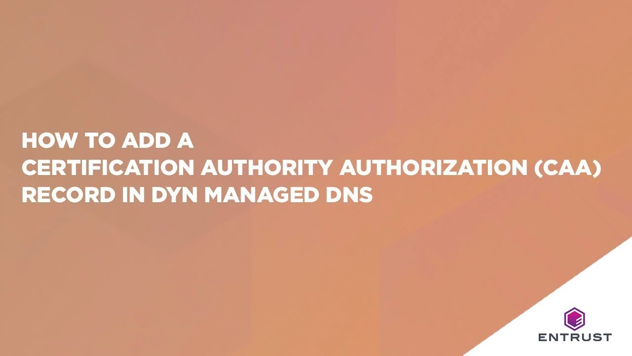 How to add a certification authority authorization caa record in how to add a certification authority authorization caa record in dyn managed dns xflitez Images