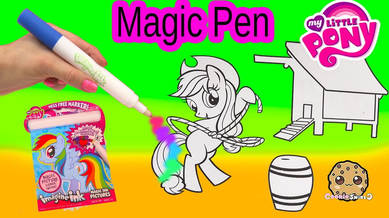 Art color book - My Little Pony Imagine Ink Rainbow Color Pen Art Book With Surprise Pictures Cookieswirlc Video Youtube