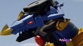 Power Rangers Official | Ninja Steel - Presto Change-O - Megazord Fight (Dragon Zord / Episode 4)