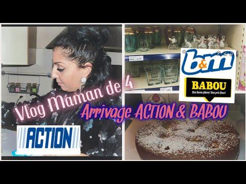 [-👩👧👦vlog-maman-de-4]🛍arrivage-magasin-action//-babou//recette-gateaux-aux-pommes