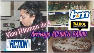 [ 👩👧👦VLOG MAMAN DE 4]🛍ARRIVAGE MAGASIN ACTION// BABOU//RECETTE GATEAUX AUX POMMES