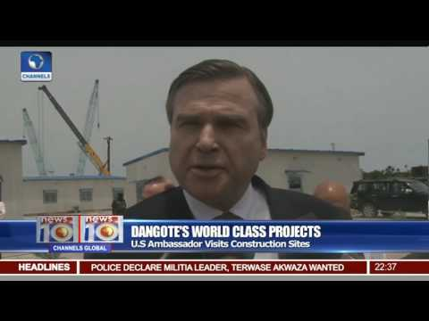 U S Ambassador Visits Dangote's World Class Project Sites