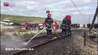 أول فيديو من فاجعة طنجة بعد وفاة 6 مستخدمين في حادث اصطدام سيارة بقطار لنقل البضائع...